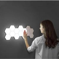 새로운 빙 시각 접촉 과민한 LED 패널 빛 모듈 6 각형 LED 자석 빛 pinel plafon techo
