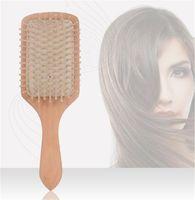Pettine per legno Professionale Professionale Sana Paddle Cuscino Perdita di capelli Spazzola per capelli Spazzola per capelli Spazzola per capelli SCULP Cura dei capelli Healthy Bamboo Pettine