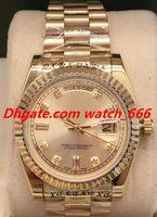Nueva versión Reloj de lujo 7 Estilo Masculino 118238 18K Dial de Diamante Diamante Negro Amarillo Negro Helado 36mm Reloj Moda Relojes Hombres Relojes