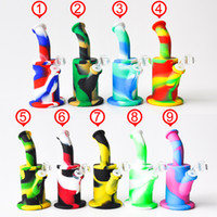 New Design 8. 5inches Silicone Water Pipe Recycler Bubbler un...