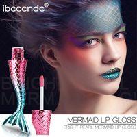 20 colores / 20 unids / lote cristal líquido brillo sirena brillo labial láser holográfico labio tatuaje maquillaje sirena pigmento brillo brillo labial