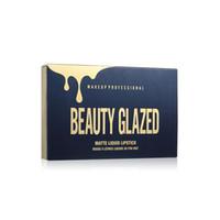 Orijinal Güzellik Camlı Altın Kozmetik Doğum Günü Edition 6 adet Set Lipgloss Kozmetik Mat Sıvı Ruj Lipgloss Dudak Parlatıcısı Kiti DHL ücretsiz
