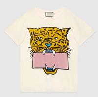 Летняя мода футболка для женщин футболки с буквами животных узор короткий рукав Леди футболка повседневные топы 2 цвета Азиатский размер M-2XL