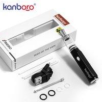 1 PC Kanboro SEK Balmumu konsantreleri kalem tipi Elektronik Sigara kiti ile 400 mAh pil cam odası Bobin kuru ot bitkisel yağ buharlaştırıcı elektronik E sigara
