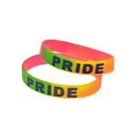 100 قطع مثليه مثلي الجنس فخر lgb سيليكون الأزياء سوار مجزأة اللون لتعزيز هدية لا الجنس المجوهرات