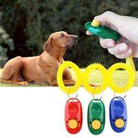 애완 동물 개 훈련 호각 Clicker 민첩성 훈련 트레이너 보조 손목 끈 강아지 훈련 순종 용품 혼합 색상