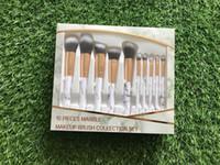 nouveau HOT 10pcs / set de maquillage ELF Brush Set Crème pour le visage électrique Fondation Brosses à usages multiples de beauté cosmétiques outil pinceaux avec boîte