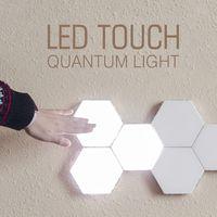 Berührungsempfindliche Wandleuchte Hexagonal Quantum Lampe Modular LED-Nachtlicht Hexagons kreative Dekoration-Lampe für Heim