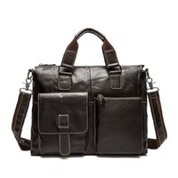 87c688bcc95d Hot 2019 Cowhide Men Briefcase Design Casual Genuine Leather Handbags Male  Messenger Bags Vintage Crossbody Shoulder Bag An994