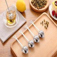 Venta caliente amor corazón forma estilo acero inoxidable té infusor cucharadita colador cuchara