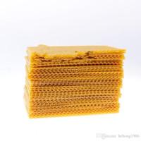 Neue Kreative gelbe Wabenkörnung Kleine Nest Sockel Bienenwachs Bienenrahmen Imkereiwerkzeuge Gartenbedarf Einfache dauerhafte hochwertige 20SL