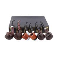 Accessoires de fumeur 6PCS / SET Tuyaux de résine de circulation de filtre de circulation de bakélite de tuyau de résine avec le paquet cadeau J59