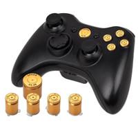 8 colores de aleación de aluminio Metal Bullet Button 9 mm Luger ABXY y Speer Guía de botones configurados para el controlador de xbox 360 de alta calidad NAVE RÁPIDO