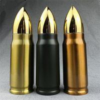 Shaped New Bullet Thermos 350ml Thermobecher Edelstahl-Vakuumwasserflasche Military Missile Cup Kaffeetasse Trinkgefäße k0671