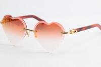 Vendita di occhiali da sole senza montatura in marmo Plank Plank Occhiali da sole 3524012Adumbral sfumatura Lenti Trasparenti con occhiali trasparenti Unisex ornamentale