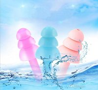 2020 Tappi per le orecchie CALDO silicone Earplugs Nuotatori morbido e flessibile per viaggiare a pelo ridurre il tappo orecchio rumore 8 colori
