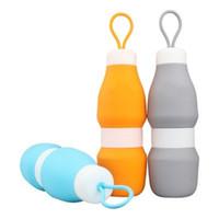 Vente en gros silicone pliable haute capacité sport Pliable bouteille d'eau douce Bouilloire Portable extérieur Randonnée homme et les femmes 15 8hfH1