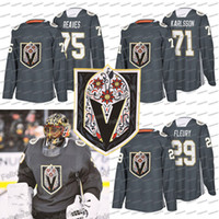 29 Marc-André Fleury Vegas Golden Knights Latino Jersey Heritage nuit 71 William Karlsson 75 Ryan Reaves Jersey