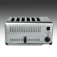Máquina automática completa comercial de alta qualidade do brinde do pão do torradeira de 6 fatias para o café da manhã