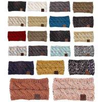 Élastique respirant hiver chaud coloré Femme Bandeau avec logo tricoté hiver Bandeau Femmes Avec Dot Flower Hairband DH0817 T03