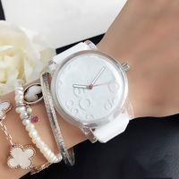 Clover Marque montres à quartz pour Femmes Hommes avec 3 feuilles de style feuille cadran de la montre la bande silicone AD 22