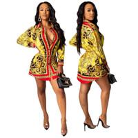 As mulheres africanas da forma Projetado camisas de vestido 2020 Sexy Mix senhora cores camisa manga longa impressa de rua casual wear vestidos mini-partido