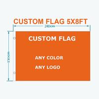 Benutzerdefinierte 5x8FT Flagge Custom Design Heiße verkaufende Fabrik-Preis-freies Verschiffen 100D Polyester Außen Team Sport Werbung Parade-Club