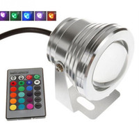 10W 12V RGB تحت الماء ضوء Floodlight Light Led CE / RoHS IP68 950lm 16 Colors Changing with Remote for Fountont Pool Decoration
