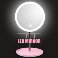 Trucco retroilluminato Specchio con illuminazione con LED bianco Luce naturale Specchio da toilette staccabile / Stoccaggio Base 3: modalità Espelho Lustro LD