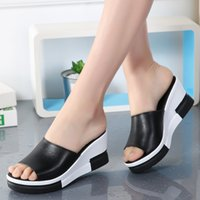 2019 Summer Fashion Slip-bottoms Slippers antideslizantes de plataforma gruesa Chanclas de mujer Zapatillas femeninas