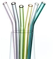 الملونة البورسليكات الزجاج الشرب القش عازمة كوكتيل شرب القش 8 ملليمتر للمنزل برواري حفل زفاف ديكور