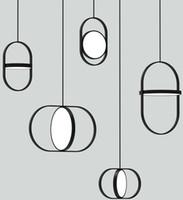 Nouveau nordique créatif chambre lustre chevet designer post-moderne simple restaurant bar personnalité unique tête petit lustre