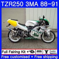 키트 YAMAHA TZR250RR TZR-250 TZR 250 88 89 90 91 본체 244HM.26 TZR250 RS RR YPVS 3MA 녹색 흰색 TZR250 1988 1989 1990 1991 페어링