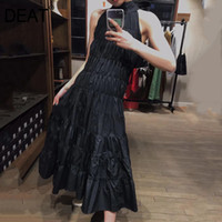 [DEAT] 2019 New Spring Summer Halter Sleeveless Pleated Spli...