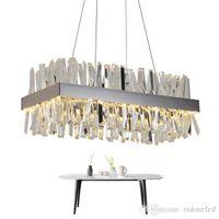 Luxus Moderne Kristallleuchter-Beleuchtung Platz Kronleuchter mit Kristallschlauch Gold / Chrom für Dinning Wohnzimmer