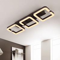 Llevada moderna iluminación de la lámpara de techo ligero para Salón Cama Lamparas Techo accesorio de iluminación de AC110-220V del color del café acabado