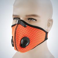 Mitad antipolvo con filtro de polvo Deportes al aire libre Entrenamiento en bicicleta Antipolvo Ciclismo Máscara facial Azul y naranja Accesorios para bicicletas