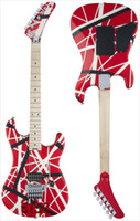 Serie de rayas 5150 VAN HALEN guitarra eléctrica Red Back Color Blanco