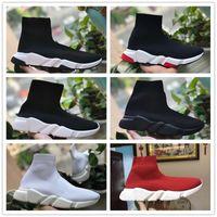 Nuevo 2018 SPEED STRECT-KNIT MID Sneakers Sock Boots Zapatillas de running de alta calidad para hombres y mujeres Entrenador deportivo Moda Zapatilla casual 36-45
