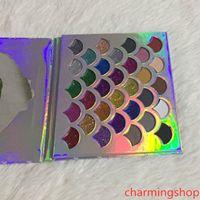 Heiße verkauf Cleof-Kosmetik-Palette 32 Farben Art und Weise Frauen Beauty Make-up The Mermaid Glitter Prism Palette 32 Farben DHL-schnelles freies Verschiffen
