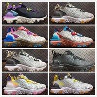 جديدة واسعة رمادي رد فعل الرؤية D-MS-X بالكاد فولت شبكة أحذية الرجال النساء الثلاثي الأسود يكون صحيحا وردي بنفسجي الزعفران الأصفر حذاء رياضة حجم 36-45