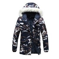 New autumn and winter wear lovers camouflage large fur colla...