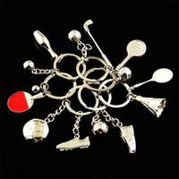 Modell ball keecing keychain souvenirs schlüsselring metall legierung schlüsselanhänger halter für männer frauen auto tasche charme schmuck zubehör sport förderung