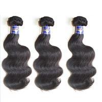 Сырые девственницы перуанской волны тела необработанные пакеты волос 3 шт. 300G лота человеческие наращивания волос плетение естественного цвета от одного донора