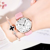 Women Watches Fashion Rose Gold Minimalism Simple Leather Ba...