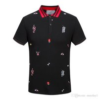 Fashion Men Brand Polo T- shirt Embroidery Snake Cassic T Shi...