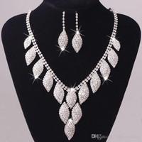 Haute qualité bijoux de mariée Accessoires de mariage Collier Boucles d'Oreilles avec des bijoux strass Bidal mode Sets # DB-JS014
