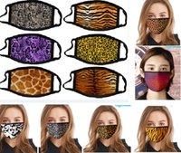 Yıkanabilir Pamuk Leopard Yüz Hayvan Baskı toz geçirmez Ağız Resuable protetive HH9-3044 Seç 17 Styles Maske Maske