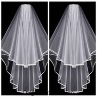 Простые короткие белые цвета слоновой кости Bridal Veil 2020 два слоя с расческой свадебные аксессуары Аксессуары для волос