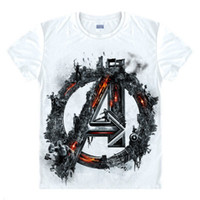 Avengers T Shirt Ironman Captain America Iron Men Hawkeye Bl...